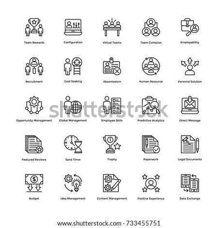 Project Management Vector Icons Set 4