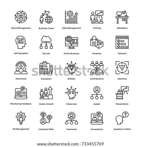Project Management Vector Icons Set 17