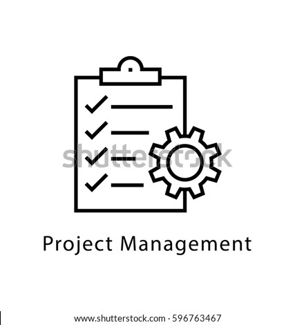 project management vector line