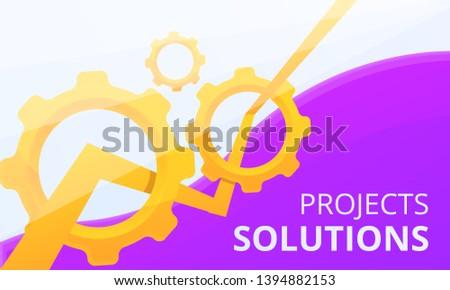 Project solution concept banner. Cartoon illustration of project solution vector concept banner for web design