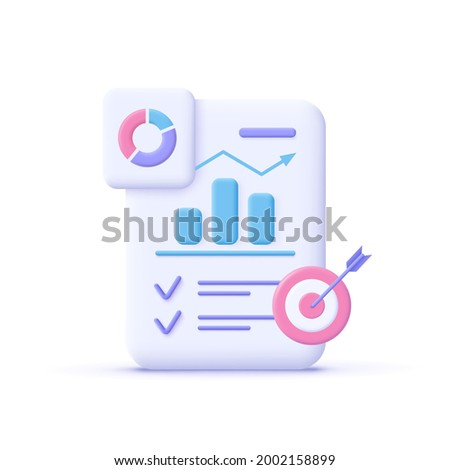 Project task management and effective time planning tools. Project development icon. 3d vector illustration.