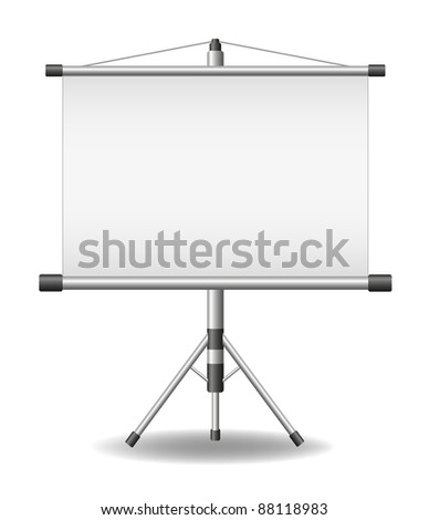 Projection screen (projector roller screen)