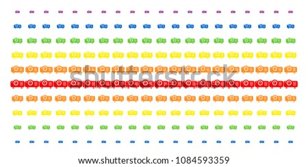 projector icon rainbow colored