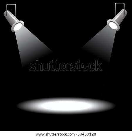Projector on black background - stock vector