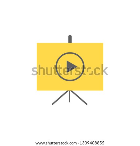 Projector screen icon. Element of Presentation icon for mobile concept and web apps. Detailed Projector screen icon can be used for web and mobile