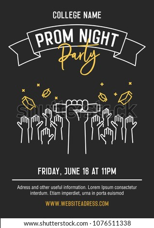 prom night party invitation