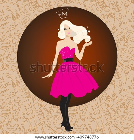prom queen vector beautiful