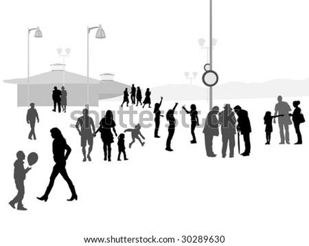 promenade in resort town