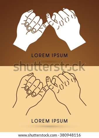 promise hand graphic vector