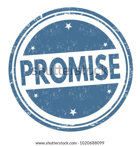 promise sign or stamp on white