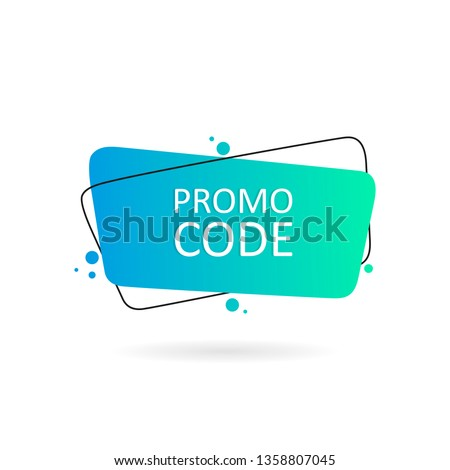 Promo code, coupon code. Geometric hand drawn banners. Flat style vector illustration.