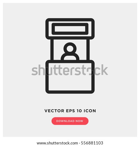Promo stand vector icon, exhibition symbol. Modern, simple flat vector illustration for web site or mobile app