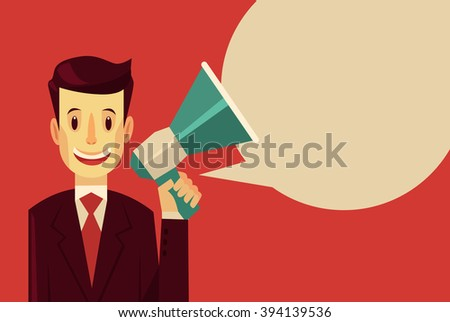 promoter. vector flat cartoon...
