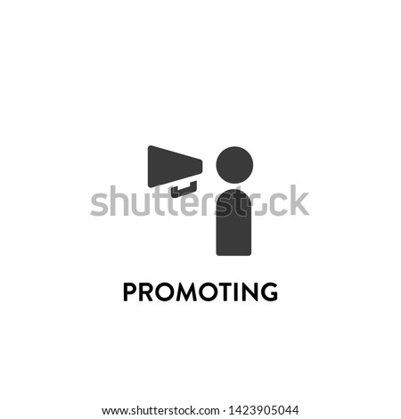 promoting icon vector. promoting vector graphic illustration