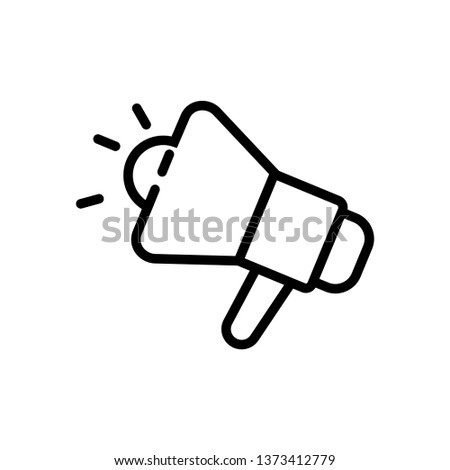 Promotion- black linear Promotion vector illustration symbol icon