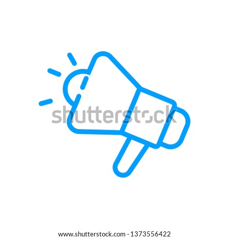 Promotion- blue linear Promotion vector illustration symbol icon
