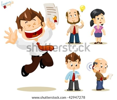 Promotion. Business People Vector