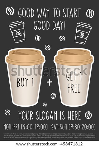 promotion coffee shop vector