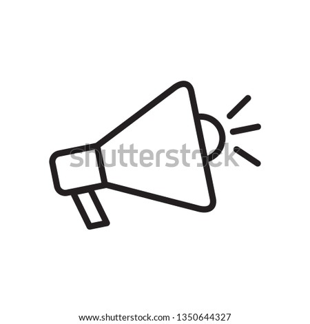 Promotion icon ,megaphone icon vector flat style trendy