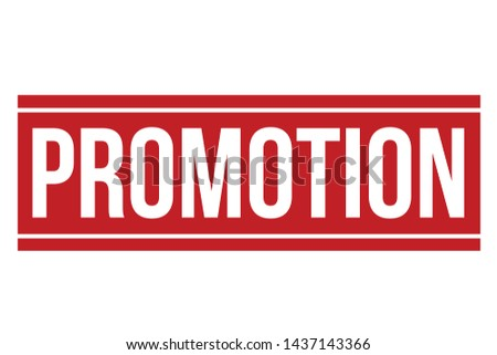 Promotion Rubber Stamp. Promotion Stamp Seal – Vector