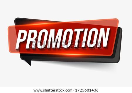 Promotion  sign. Promotion realistic paper speech bubble. banner Promotion
