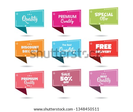 Promotional Badges and Sale Tags. Promotional badges and sale tags for your designs