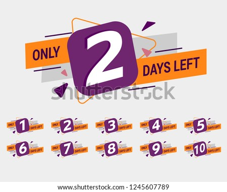 promotional banner with number of days left sign