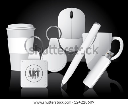 Promotional Business Items EPS 8 vector, grouped for easy editing. No open shapes or paths.