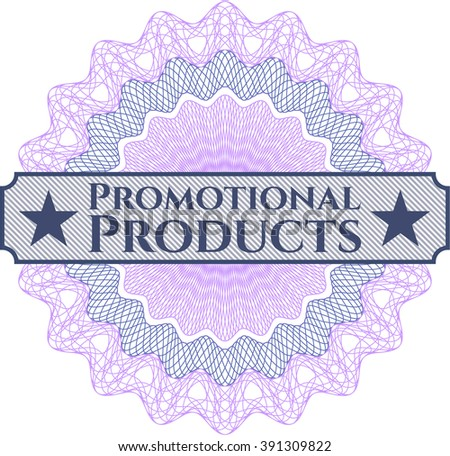 Promotional Products inside money style emblem or rosette