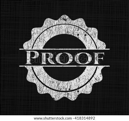 Proof chalkboard emblem