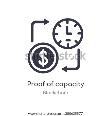 proof of capacity icon. isolated proof of capacity icon vector illustration from blockchain collection. editable sing symbol can be use for web site and mobile app