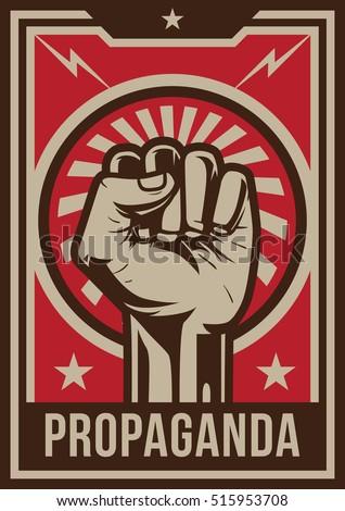 Shutterstock Propaganda Poster, Fist Hand