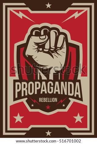 propaganda poster  fist hand