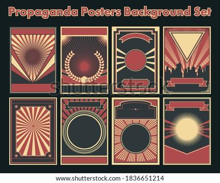 Propaganda Posters Background Set, Retro Style Elements  Stock photo ©