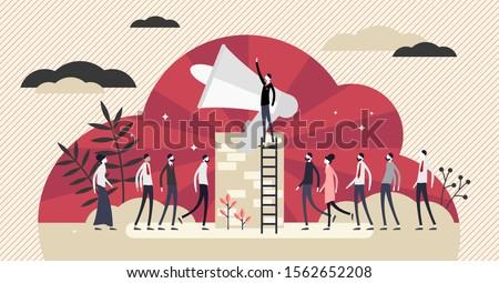 propaganda vector illustration