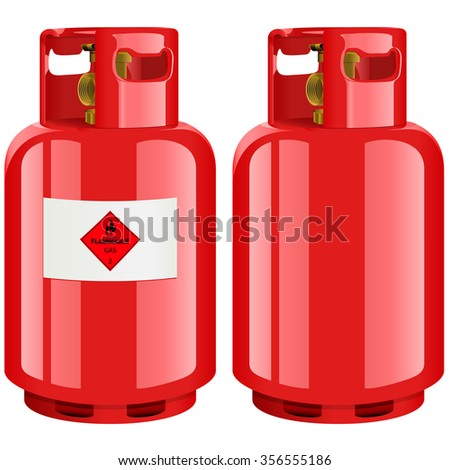 Royalty-free Propane gas cylinder, vector… #134072984 ...