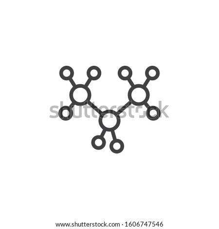 Propane molecular geometry line icon. linear style sign for mobile concept and web design. C3H8 structure outline vector icon. Symbol, logo illustration. Vector graphics