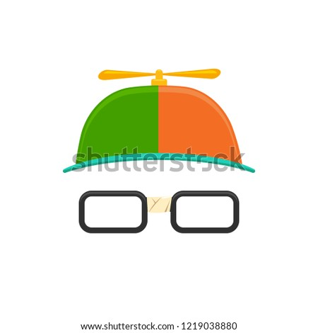 Propeller Hat with Eye Glasses