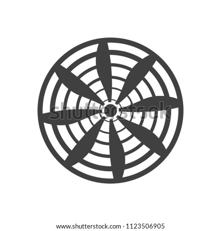 propeller icon on white background vector art