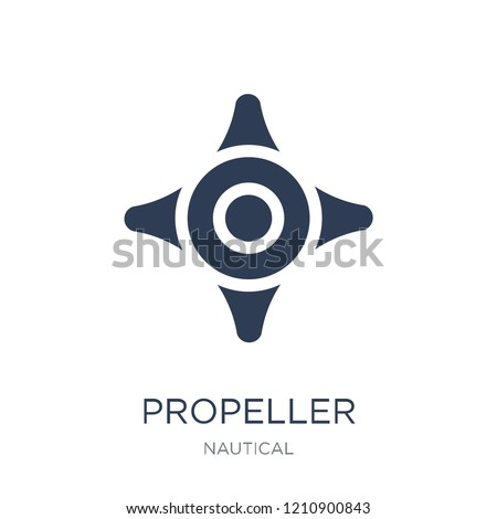 Propeller icon. Trendy flat vector Propeller icon on white background from Nautical collection, vector illustration can be use for web and mobile, eps10