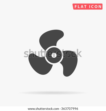 Propeller Icon Vector. Simple flat symbol. Illustration pictogram