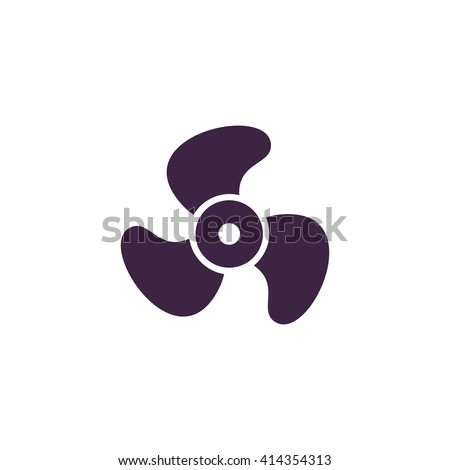 Propeller Simple flat blue vector icon on white background