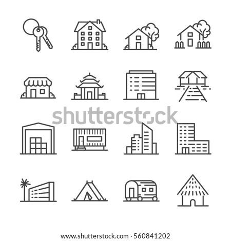 Property icon set