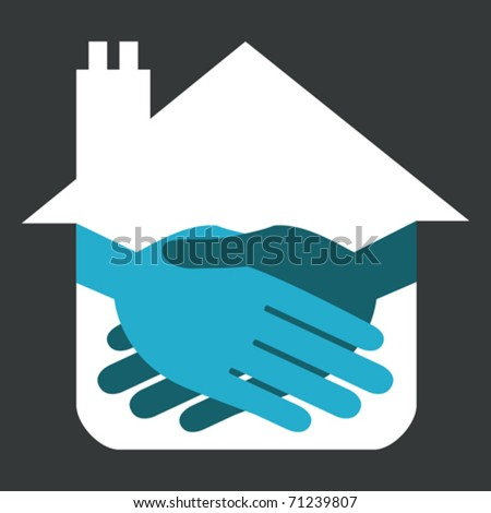 Property or real estate handshake design.