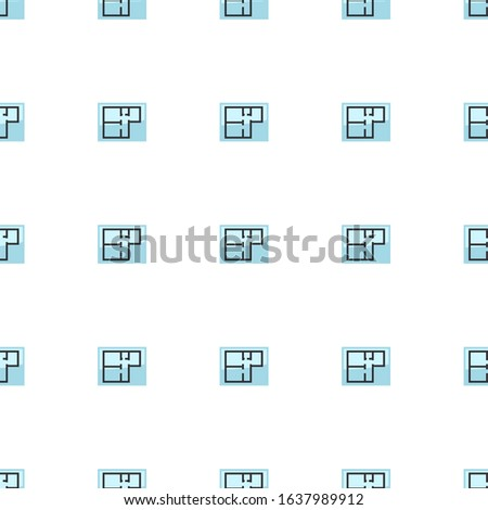 Property plan icon pattern seamless isolated on white background. Editable flat Property plan icon. Property plan icon pattern for web and mobile.