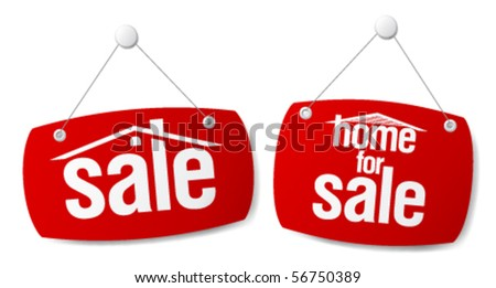 Property Sale Vector Signs