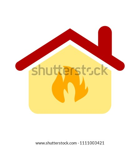 property security insurance concept, home fire protection icon