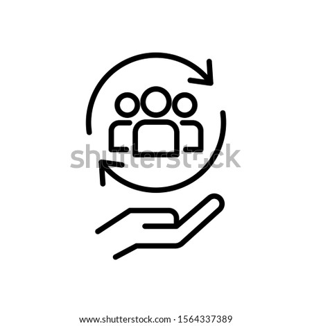 Proposal icon in line art style on white background, Network full services, Minimal vector icon, Vector illustration Foto stock ©
