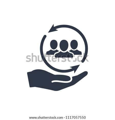 Proposal icon. Network full services - Minimal Icon, service, public, proposal, server, employee, offer, team, hand, transfer, account Foto stock ©