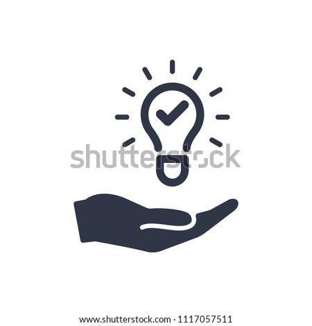 Propose brilliant idea - Suggest, offer, present new idea,solution, plan vector icon.